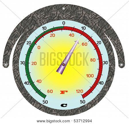 The Round Iron Thermometer