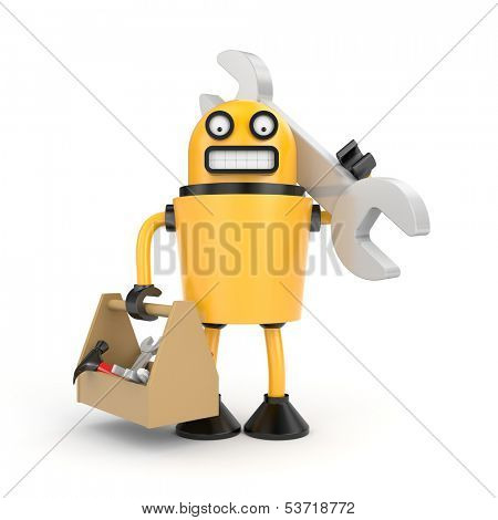 Robot with toolbox