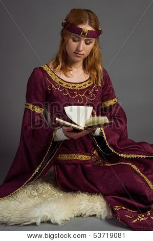 Beautiful Young Girl In A Historical Dress