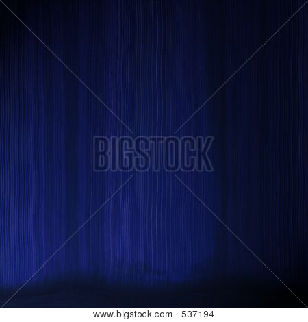 Blue Theatre Curtain Effect