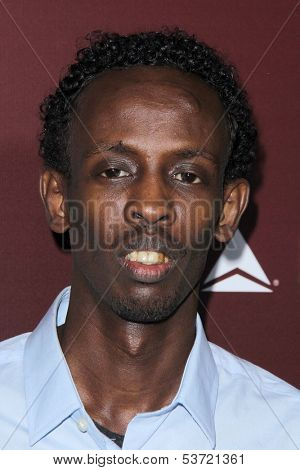 LOS ANGELES - NOV 6:  Barkhad Abdi at the Hollywood Reporter's Next Gen 20th Anniversary Gala at Hammer Museum on November 6, 2013 in Westwood, CA