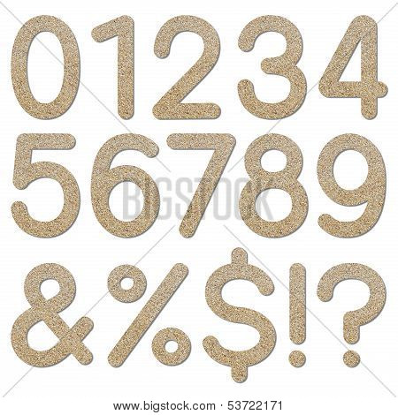 Font Rough Gravel Texture Numeric 0 To 9