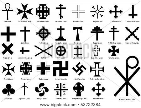 Crosses Illustration Set
