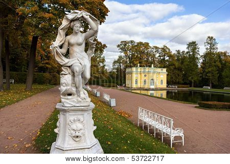 Statue Of Galatea In The Catherine Park In Pushkin (former Tsarskoe Selo),st.petersburg, Russia