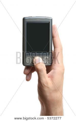 Hand Holding Pda