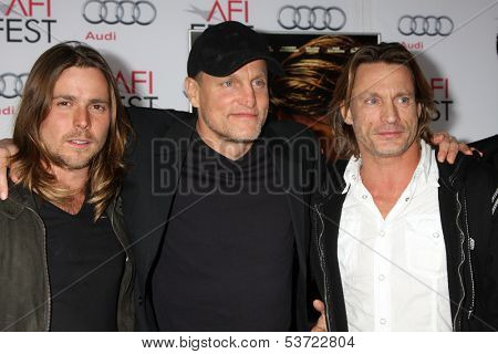 LOS ANGELES - NOV 9:  Woody Harrelson, Brett Harrelson, guests at the AFI FEST 2013 Presented By Audi -
