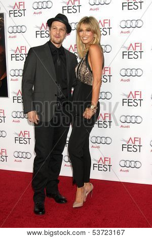 LOS ANGELES - NOV 9:  Gavin DeGraw, Delta Goodrem at the AFI FEST 2013 Presented By Audi -