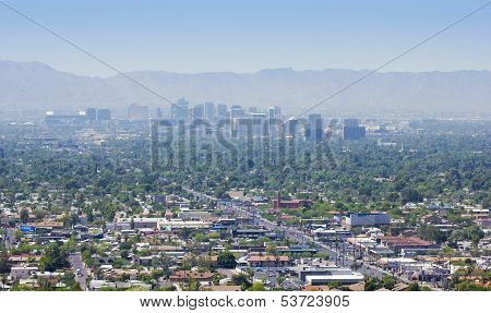A City Of Phoenix Down 7Th Street Shot