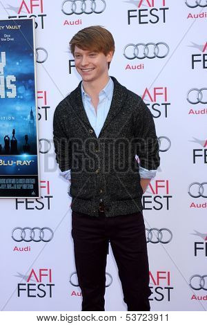 "LOS ANGELES - NOV 9:  Calum Worthy at the AFI FEST ""Mary Poppins"" 50th Anniversary Commemoration Screening at TCL Chinese Theater on November 9, 2013 in Los Angeles, CA\"