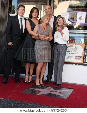 LOS ANGELES - NOV 8:  Zoltan Hargitay, Mariska Hargitay, Mickey Hargitay Jr, Jayne Marie Mansfield at the Mariska Hargitay WOF Ceremony at Hollywood Blvd on November 8, 2013 in Los Angeles, CA\
