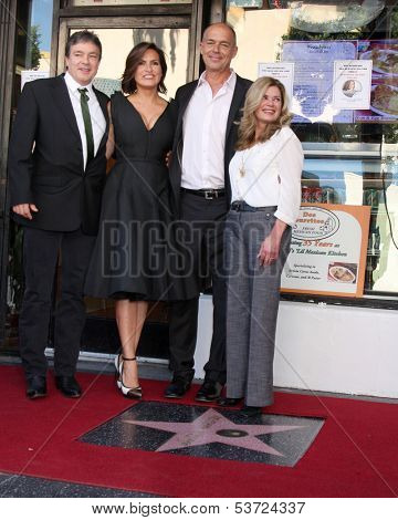 LOS ANGELES - NOV 8:  Zoltan Hargitay, Mariska Hargitay, Mickey Hargitay Jr, Jayne Marie Mansfield at the Mariska Hargitay WOF Ceremony at Hollywood Blvd on November 8, 2013 in Los Angeles, CA\