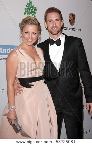 LOS ANGELES - NOV 9:  Jessica Capshaw, Christopher Gavigan at the Second Annual Baby2Baby Gala at Book Bindery on November 9, 2013 in Culver City, CA