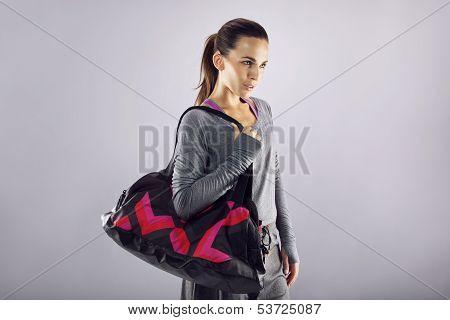 Pretty Woman Ready In Fitness Gear