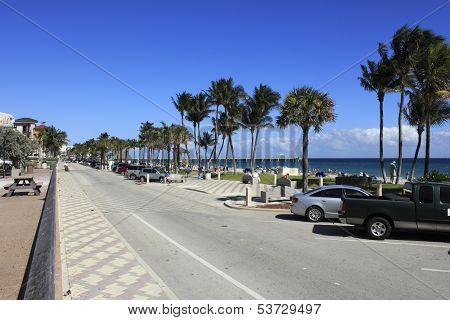 Busy Deerfield Beach