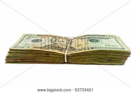 Stack Of Twenty  Bills