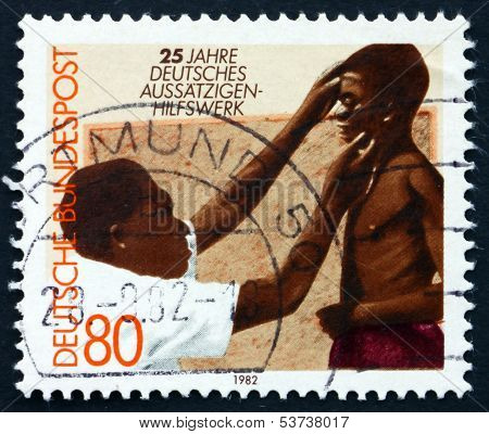 Postage Stamp Germany 1982 Doctor And Patient