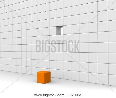 Unique Orange Cube