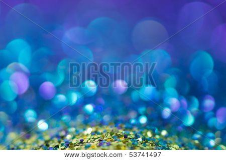 Glitter natural bokeh