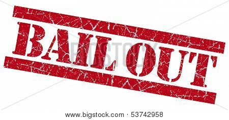 Bail Out Grunge Red Stamp