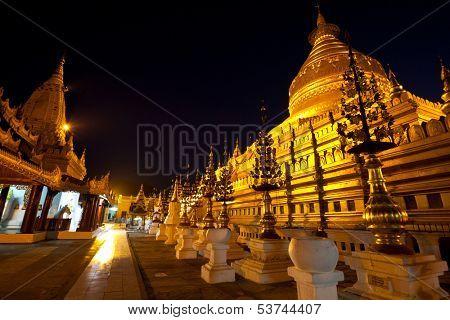 Buddhist temple roof ,Myanmar