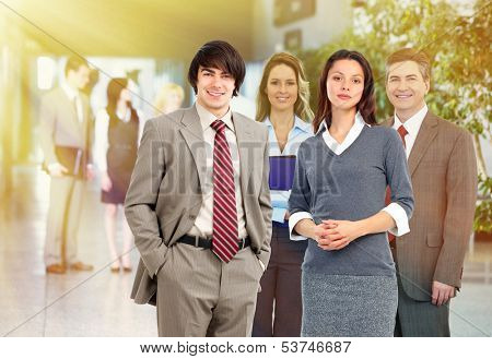 Group of business people. Teamwork and partnership concept.