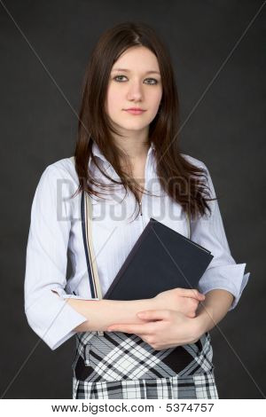 Girl With The Book In Hands