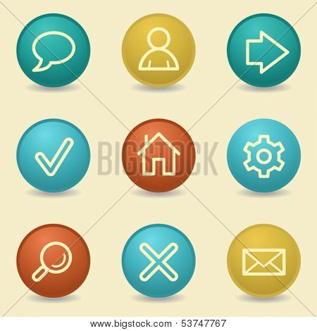 Basic web icons, retro buttons