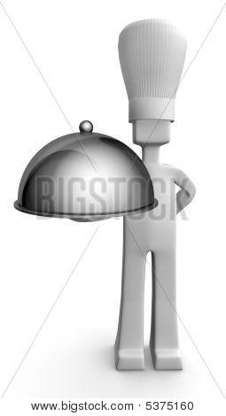 Chef Serving Guest Concept