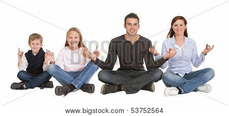 Couple Sitting In Yoga Position