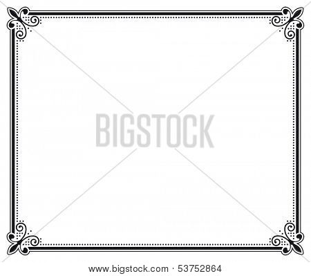 black and white decorative frame