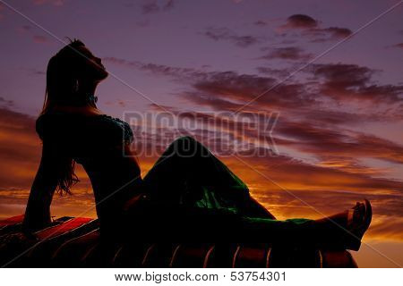 Silhouette On Magic Carpet Sit