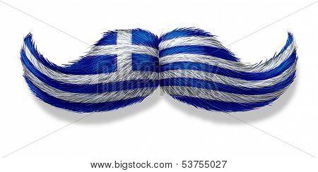 Greek Mustache Symbol