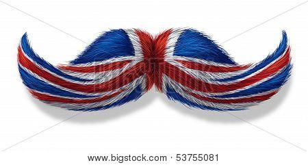 British Mustache Symbol