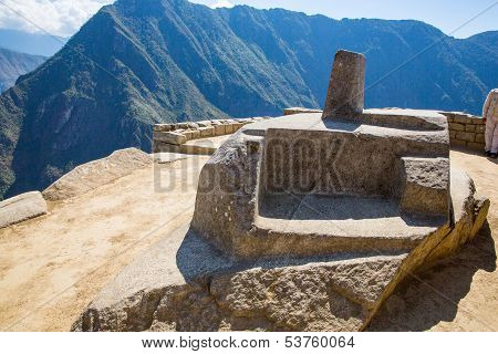 Mysterious City - Machu Picchu, Peru,south America. The Incan Ruins And Terrace. Example Of  Polygon
