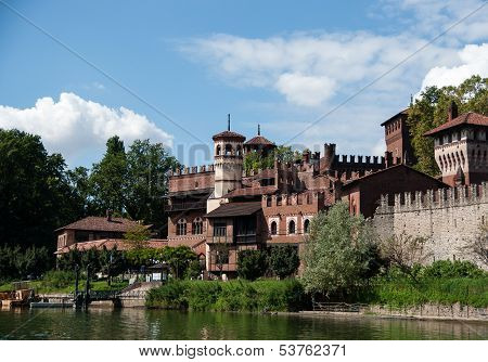Medieval Town In Torino