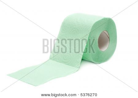 Roll Green Toilet Paper