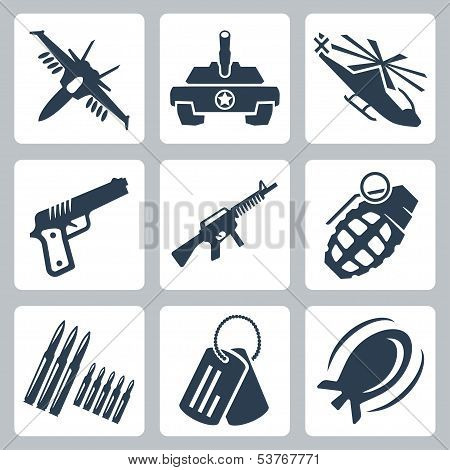 Vector Isolated War Icons Set