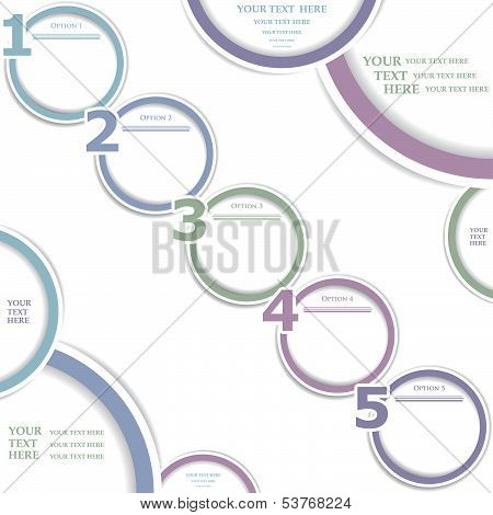 Vector Paper Numeric Options Isolated On White