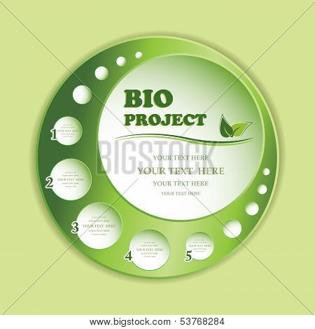 Green Bio Project Banner Isolated.