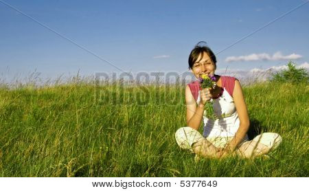 Young Girl Enjoying Summer