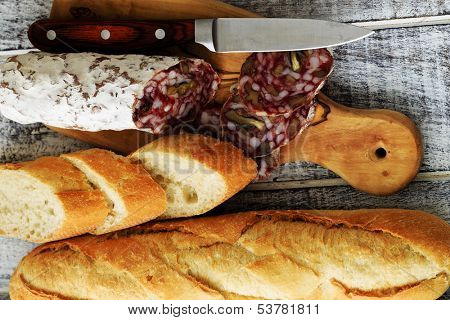 Salami with walnuts - Traditional Italian salami