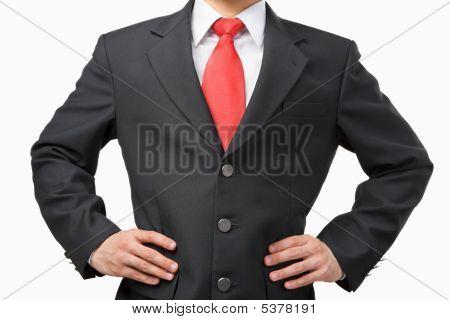 Akimbo Businessman Body