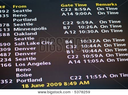 Electronic Airport Schedules