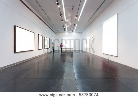 empty frames in gallery