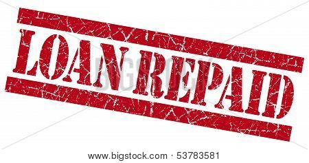 Loan Repaid Grunge Red Stamp