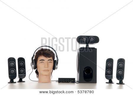 Sistema de sonido de alta fidelidad 5.1