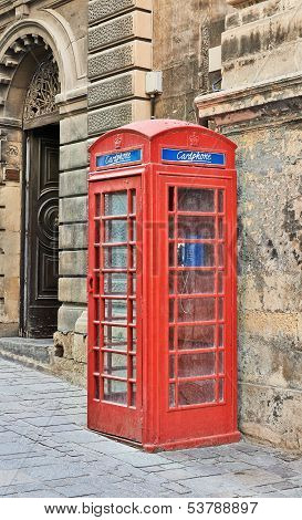 Red Phone Box In Malta