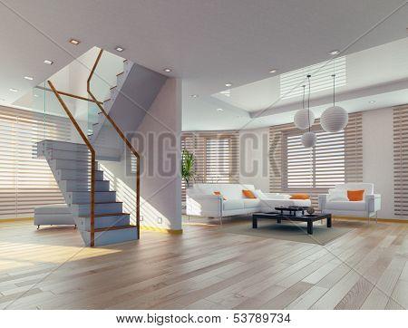 modern living room interior. contemporary concept
