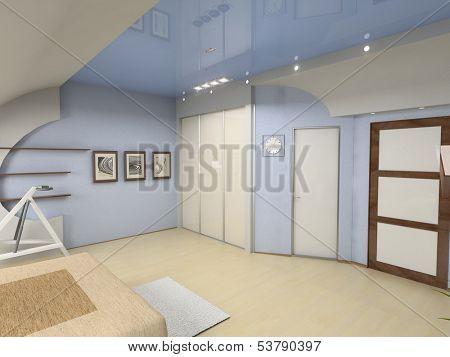 modern bedroom interior design (computer - generated image)