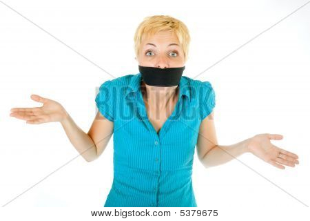 Blond Woman Censored